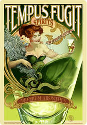 Girl Drinking Absinthe