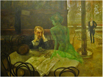 Victor Oliva The Absinthe Drinker